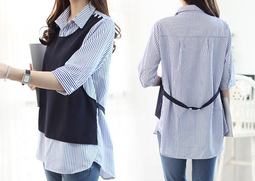 L33 BL4541 / Sonia Vest Match Shirt (Blouse Vest1!)
