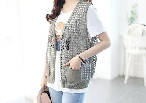 C57 KN4561 / Babe weaving knitting Vest (order runaway!)