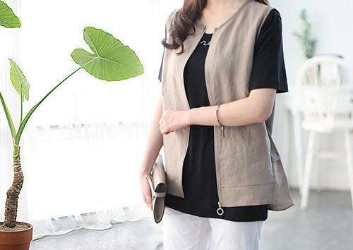 E15 V4627 / Jamie Linen Vest (order runaway!)