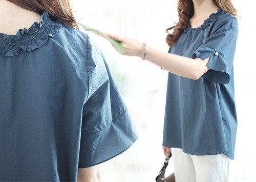 K55 BL5127 / Heros Neck Shirring Blouse (order runaway!)