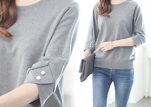 L31 KN5182 / Sensual Sleeve Pearl Knit (Best Customer Satisfaction!)
